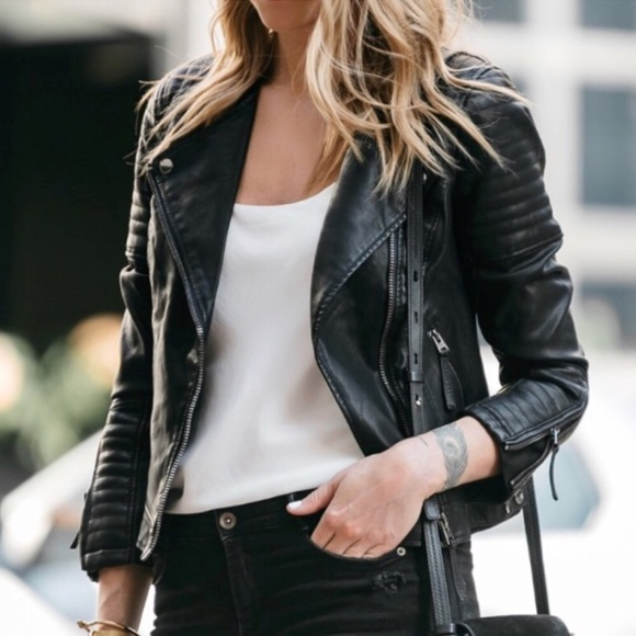 afdbd838d NWT // Topshop Nelly Faux Leather Biker Jacket NWT